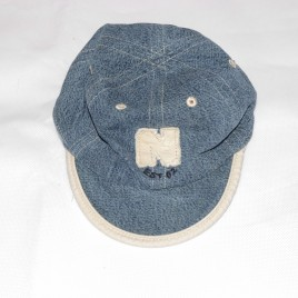 Next reversible blue & stone hat