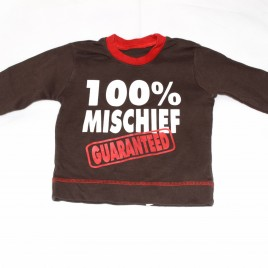 '100% Mischief Guaranteed' top 9-12 months