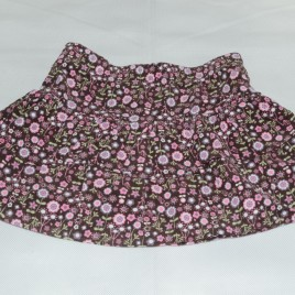 M&S Autograph brown with flowers skirt 18-24 months