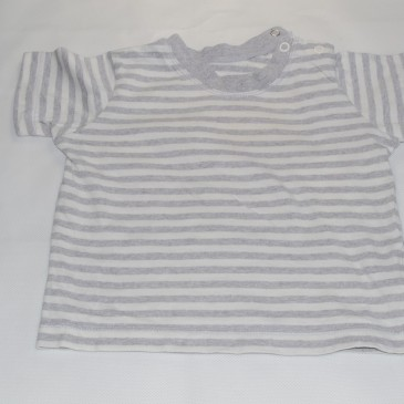 6-9 months grey stripy t-shirt