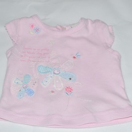 Pink newborn flowers t-shirt