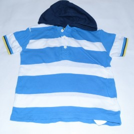 Next stripy hooded t-shirt 2-3 years