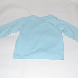 Aqua blue long sleeved top 12-18 months