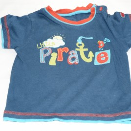 'Little pirate' t-shirt 6-9 months M&S