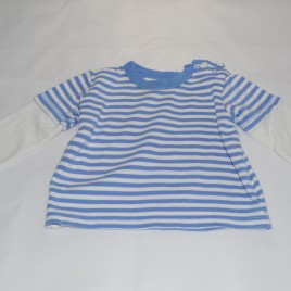 Blue and white stripy top 6-9 months