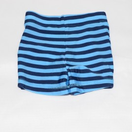 Blue stripped swimming trunks 9-12 months
