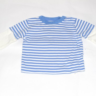 Blue and white stripy top 9-12 months