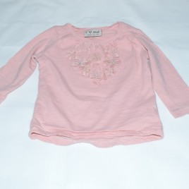 Next pink butterfly top 6-9 months
