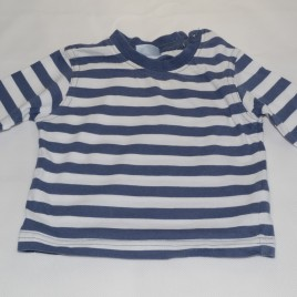 Tesco Blue and White Stripped Top 0-3 months