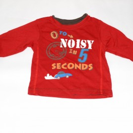 Red '0 to Noisy in 5 Seconds' top 9-12 months