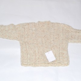 Brown knitted jumper 6-9 months