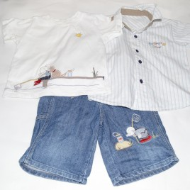 Shirt, t-shirt & shorts Humphreys corner 18-24 months