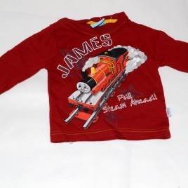 Thomas the tank engine James Red Top 9-12 months