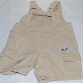 Beige short dungarees 0-3 months
