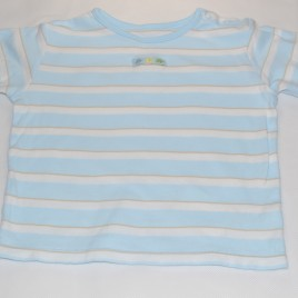 Blue stripy t-shirt 18-24 months