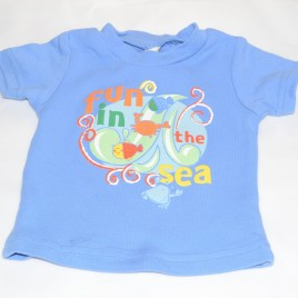Blue seaside t-shirt 0-3 months