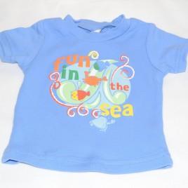Blue seaside t-shirt 0-3 months