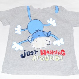 Monkey just hanging around t-shirt 18-24 months