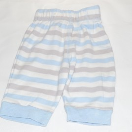 Blue, grey & white striped trousers 0-3 months