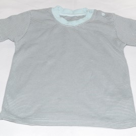 Green & grey stripy t-shirt 18-24 months