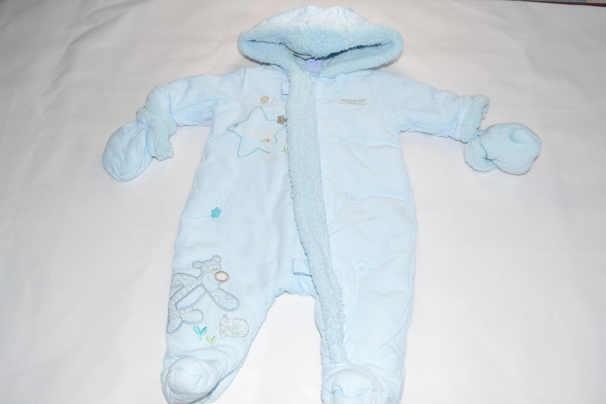33f9c0b26 Disney Tigger blue snowsuit/pramsuit newborn - Aylsham Kids
