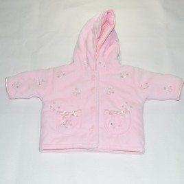 Pink tiny baby warm coat