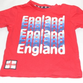 Red England t-shirt 18-24 months