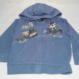 Next Blue Train Hoodie 18-24 months
