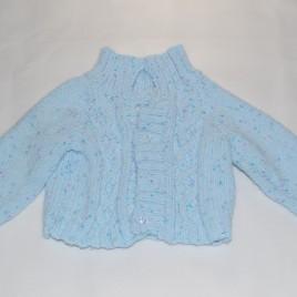 Handmade blue cardigan 0 – 6 months