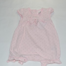 Pink spotty Next newborn romper