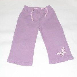 Purple jogging trousers 6-9 months