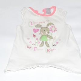 Cream bunny t-shirt 3-6 months