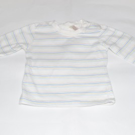 Cream stripy top 3-6 months