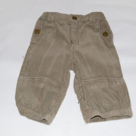 Tesco Green Cord Trousers 3-6 months
