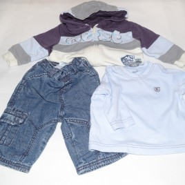 Next 3-6 months outfit hoodie, top & jeans