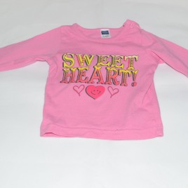 "Pink ""sweet heart"" top 3-6 months"