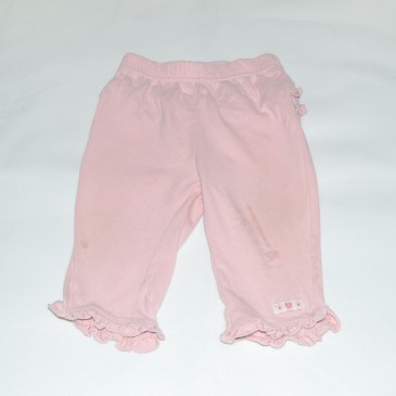 Pink ruffle bottom leggings 3-6 months
