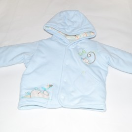 Reversible blue & stripy jacket 3-6 months