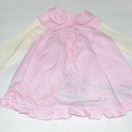 Pink carousel dress 6-9 months