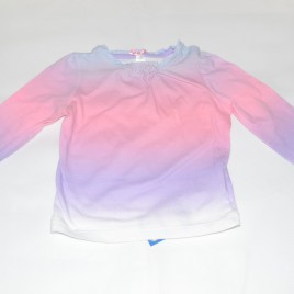 Pink & purple tie dye top 6-9 months
