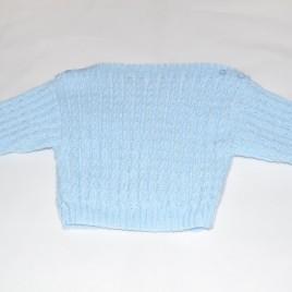 Blue hand knitted jumper 0-6 months