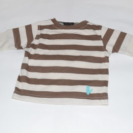 Next brown stripy top 3-6 months