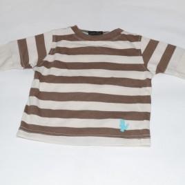 Next brown stripy top 3-6 months