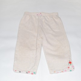Cream Floral Trousers 6-9 months