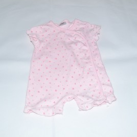Up to 1 month pink flowered romper