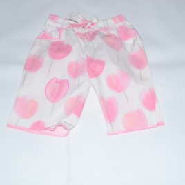 Pink Flowered Trousers 0-3 months