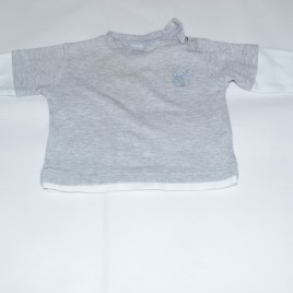 Next Grey and White Top 0-3 months