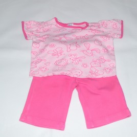 Pink 0-3 months t-shirt & trousers outfit