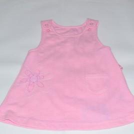 Newborn Pink flower pinafore