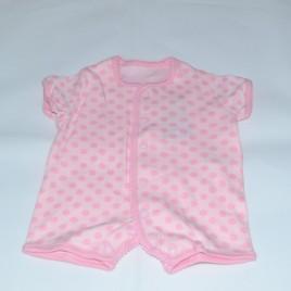 M&S newborn pink spotty romper